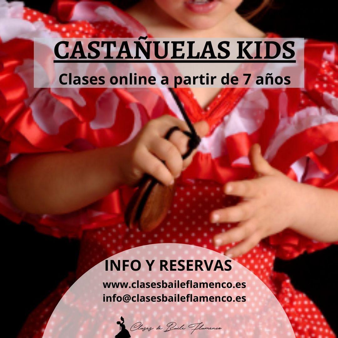 Clases de castañuelas para niños kids online clases baile flamenco madrid