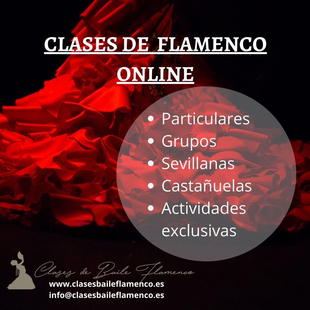 oferta de clases baile flamenco online covid19