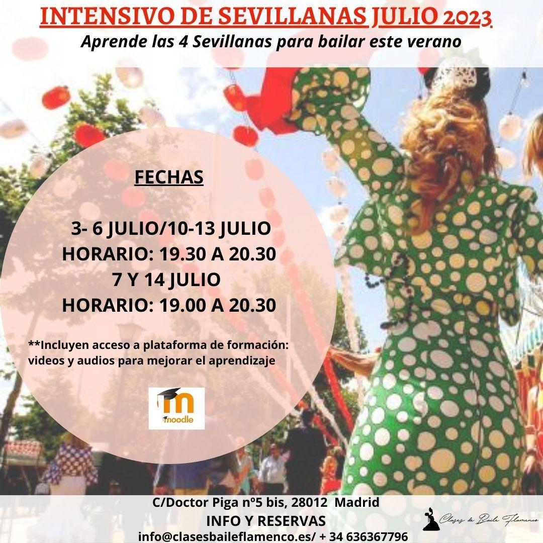 ursos de Sevillanas en Madrid clases Flamenco Danza Española